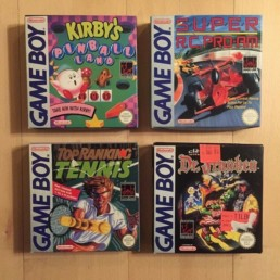 Kirby´s Pinball, Super RC Pro AM, Top Ranking Tennis, Dr. Franken Game Boy