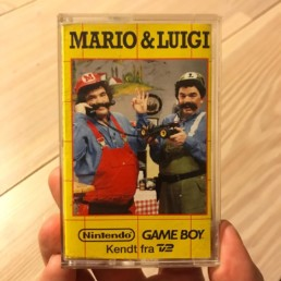 A tape from the danish tv show with 'Mario & Luigi'